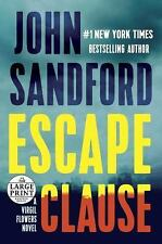 Escape Clause by John Sandford (2016, Paperback, Large Type)