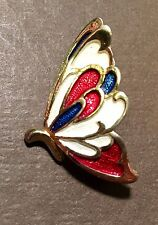 Cloisonné - Style Vintage Butterfly Lapel Pin Brooch