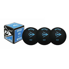 3 x Dunlop Pro Squash Balls - Intro Blue - Fast - WSF & WSA & PSA Official Ball