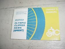 Trac Moped Olympic Clipper Hawk Sprint Owners Manual