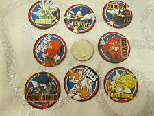 1 set of 8 different Sonic the Hedgehog Magnets Collect Office Home Party Gifts