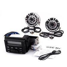 Motorcycle Bike ATV UTV Audio FM Radio MP3 iPod Sound System Stereo Speakers