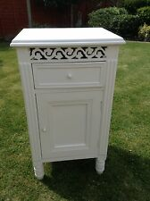 White Belgravia, Shabby chic, Pot Cupboard, Bedside Table