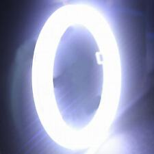 2Pcs White 70MM COB LED Angel Eyes Headlight Halo Ring Warning Lamps with Cover
