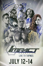 "Official TNA Impact Wrestling Hand Signed 11x17"" Impact TV July 12-14 Poster"