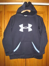 Under Armour Cold Gear sweatshirt hoodie YLG blue fitness soccer baseball spring
