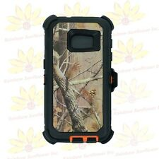 Org stree camo for Samsung Galaxy S7 Rugged Defender Case w/Build-in Screen&Clip