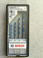 Kit 4 Brocas RobustLine Bosch Multi Construcción de 4-5-6 y 8 mm Made in Germany