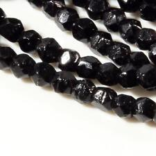 Hank (264) 3mm Austrian vintage black English cut faceted glass beads Swarovski