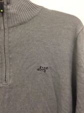 NWT SLIGO Golf Mock Turtleneck Partial Zip Front Sweater Gray Mens Size XS