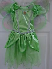 kids costume TINKERBELL dress & fancy wings size small 5/6 Halloween  Peter Pan