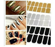 16Pcs Gold, Silver or black Cool Nail Art Sticker Patch Foils Armour Wraps
