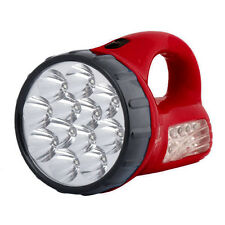 New Red Portable Rechargeable Brightness 12+10 Pcs LED Flashlight Torch Lamp
