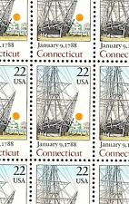 1988 - CONNECTICUT - #2340 Full Mint -MNH- Sheet of 50 Postage Stamps