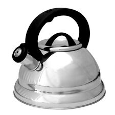 3 QT Quart Classic Stainless Steel Easy Pour Capsule Base Whistling Tea Kettle