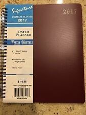 2017 Weekly Monthly Dated Planner Calendar Agenda Appointment SPIRAL 8X10 Burg