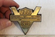 1955 Harley Davidson KH Front Fender Emblem