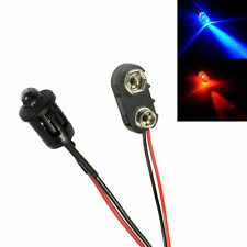 Alternating Red & Blue Car Dummy Fake Alarm LED + PP3 Connector Kit