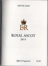 Race Cards: Royal Ascot Fifth Day 20 June 2015 UNDRAFTED Diamond Jubilee Stakes