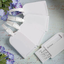 100 - Perfectly Plain Luggage Tag - Wedding Favor - Free US Shipping