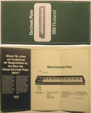 Roland Electronic piano Flyer/folleto