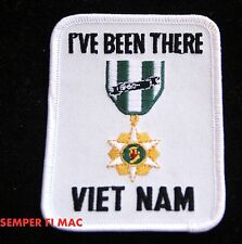 I'VE BEEN THERE VIETNAM VETERAN COLLECTOR PATCH USMC USAF USN ARMY USCG MEDAL US