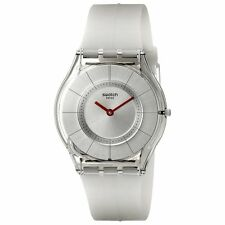 Swatch Silver Dial Skin Ghost Quartz Women's Watch SFM129