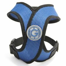 Gooby Choke Free Comfort X Harness for Small Dogs, Medium, Blue , New, Free Ship