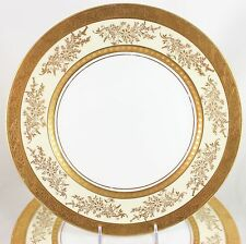 FAB SET(S) 6 DINNER PLATES RAISED GOLD ENCRUSTED HUTSCHENREUTHER ROYAL BAVARIAN