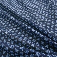 "Blue Fabrics 44"" Wide Floral Light Weight Cotton Material Craft By The Meter"