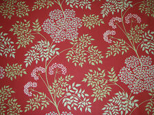 "SANDERSON CURTAIN FABRIC DESIGN ""Cowparsley"" 2.4 METRES SCARLET (240 CM)"