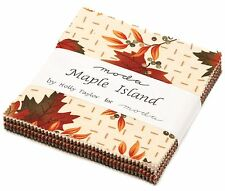 "Maple Island Moda Charm Pack 42 100% Cotton 5"" Precut Fabric Quilt Squares"