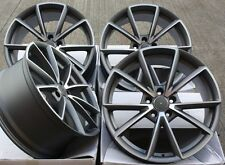 """18"""" RS4 STYLE GREY/POLISHED ALLOY WHEELS ONLY 8X18"""" 5X112 AUDI A6"""