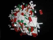 A BUNDLE OF RED & WHITE LEGO  Windows, Roof Tiles ETC,