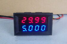 100V 10A DC Digital LED Voltmeter Ammeter Amp Volt Meter Built-in shunts 12v 24v