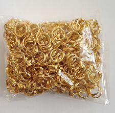 New! 400 pcs Gold Plated Open Double Loop Jump Rings 8mm Jewelry #76