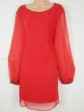 BNWT So Fabulous Chiffon Jewel Cuff Special Occasion Tunic Dress Size 20