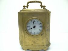 Vintage Used India Brass Metal Battery Operated Decorative Prestige Mantle Clock