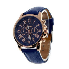 Women's Geneva Roman Numerals Watches Faux Leather Analog Quartz wrist watches