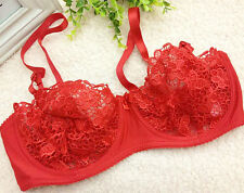 Hot Floral Sheer Lace Unpadded Sexy Women Bra Underwire Lingerie Cup A B C D Top