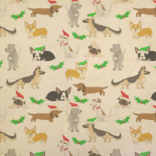 Christmas Dogs Galore Kraft Present Gift Wrap Wrapping Paper