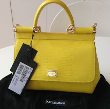 DOLCE AND GABBANA SICILY MINI HANDBAG. YELLOW. BNWT AND DUSTBAG. RRP £875