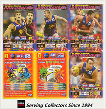 2005 AFL Teamcoach Trading Card How To Play Team set Brisbane (10)