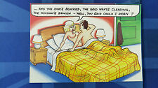 Bamforth Comic Postcard 1980s Blonde Large Boobs Nude Moaning In Bed Theme