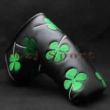 Black Clover Putter Cover Headcover For Taylormade Scotty Cameron Odyssey Blade