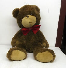 "Atco Big Large 20"" Tall Brown Teddy Bear with Bowtie Plush Stuffed Animal"