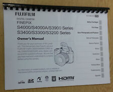 FUJIFILM S4000 3900 3400 3300 3200 FULLY PRINTED INSTRUCTION MANUAL USER GUIDE