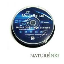 10 x MediaRange Dual Layer DVD+R DL Double Layer Branded 8x ( Azo Dye )