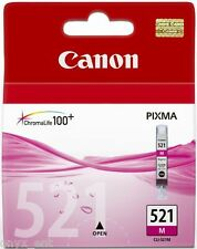 Genuine Canon CLI-521M Magenta Ink Cartridge for Pixma iP3600 iP4600 iP4700