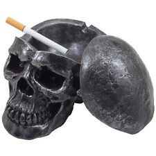 Human Skull Covered Ashtray Halloween Decoration Gothic Decor Gifts for Smokers